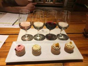 Delheim Wine Estate Cupcakes and Wine Tasting during our Cape Winelands Tour