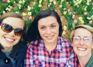 myself and friends in the tulip fields at Biltmore