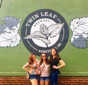 Myself and friends outside of Twin Leaf Brewing.