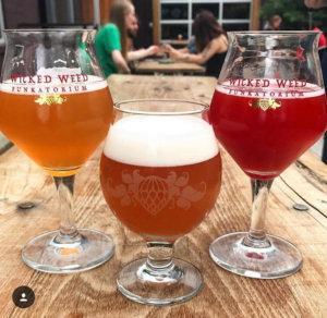 Funkatorium brewery featuring three sour beers.