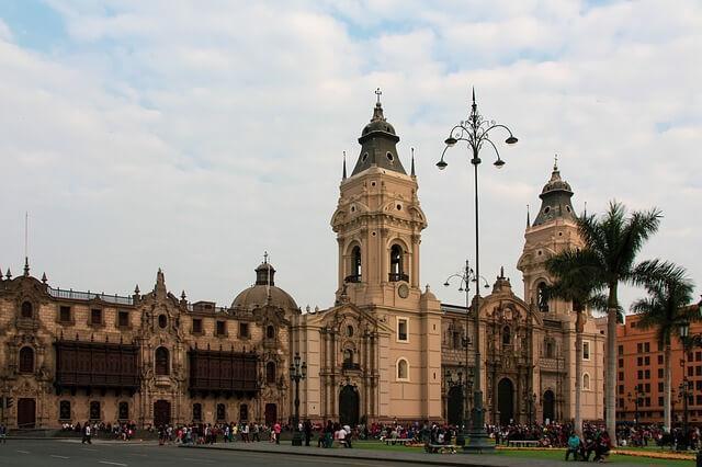 Architecture in Lima, Peru.
