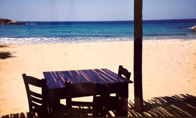 Beach in Patmos, Greece