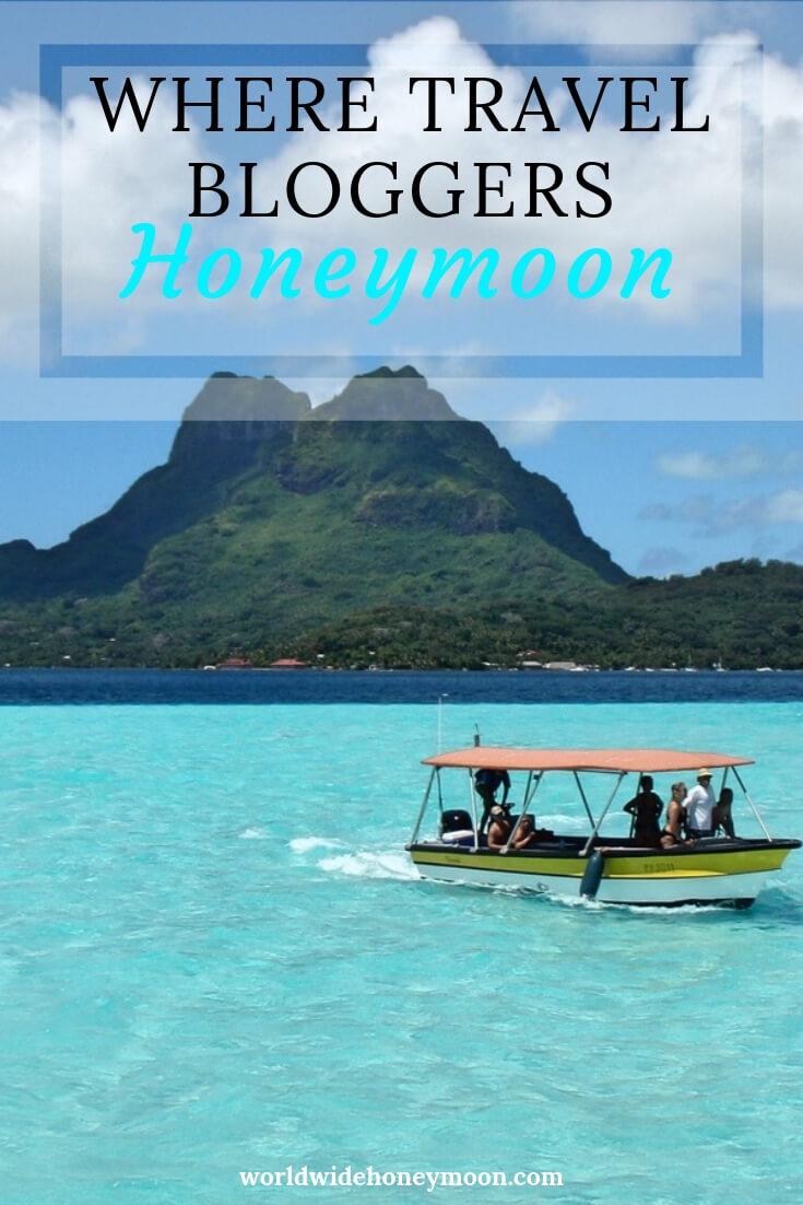 Where Travel Bloggers Honeymoon Pinterest Pin 1