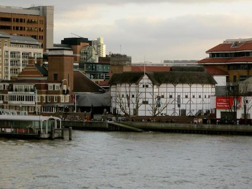 Globe Theatre across from the River Thames