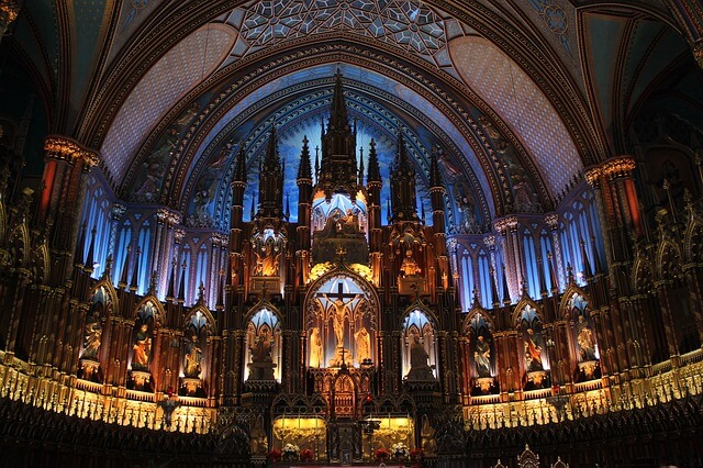 Notre Dame Cathedral Montreal inside