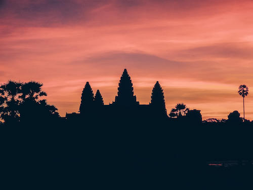 Angkor Wat at sunrise 2 during our 3 week Southeast Asia itinerary