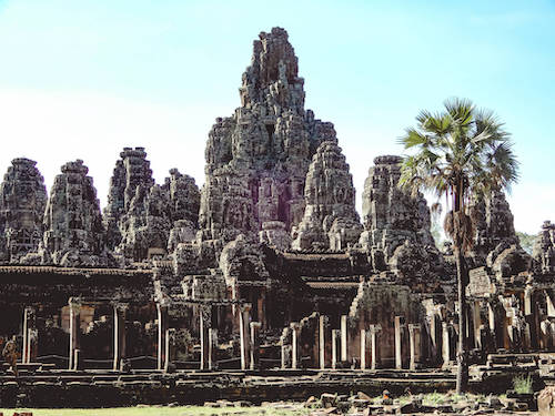 Bayon Temple during our 3-week Southeast Asia itinerary