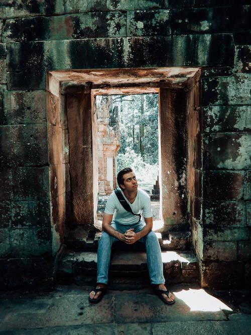 Chris exploring temples