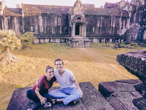 Kat and Chris at Angkor Wat