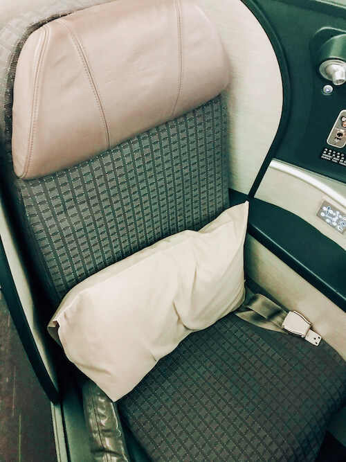 EVA Air Business Class Seat