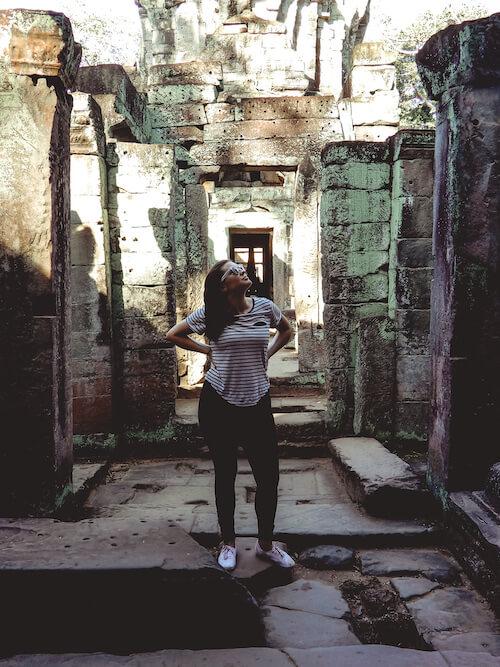Kat walking around Angkor Wat