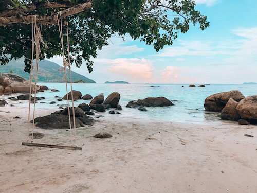 Koh Lipe beach with swing