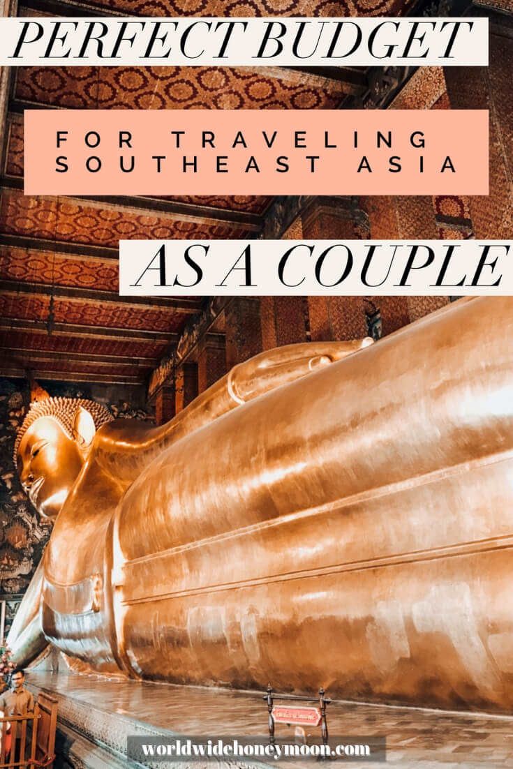 Perfect Budget for Traveling Southeast Asia as a Couple Pinterest Pin
