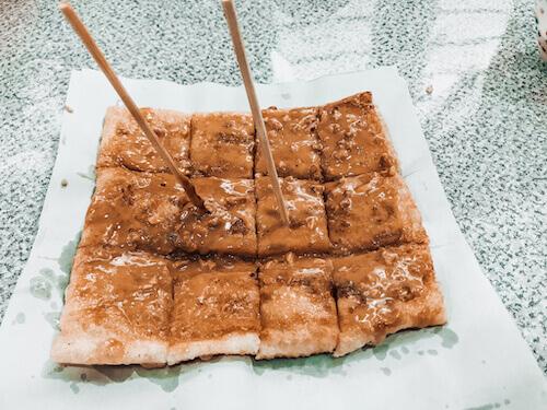 Banana and Peanut Butter roti pancake at Madame Yoohoo's Koh Lipe