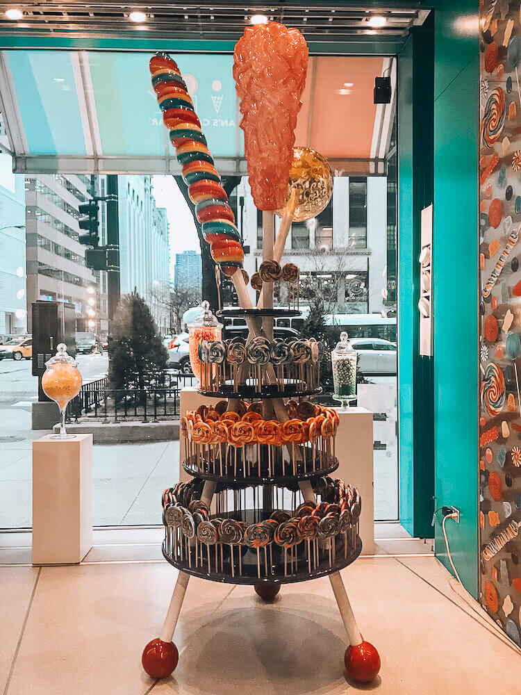 Candy display on the Mag Mile