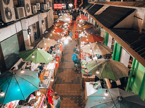 Chiang Mai Night Bazaar food stands