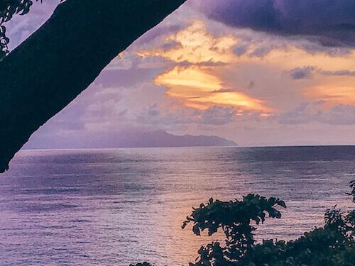 Cloudy sunrise over Sunrise Beach, Koh Lipe, Thailand