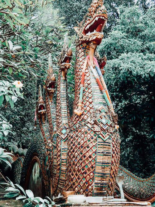 Dragon statue at Doi Suthep