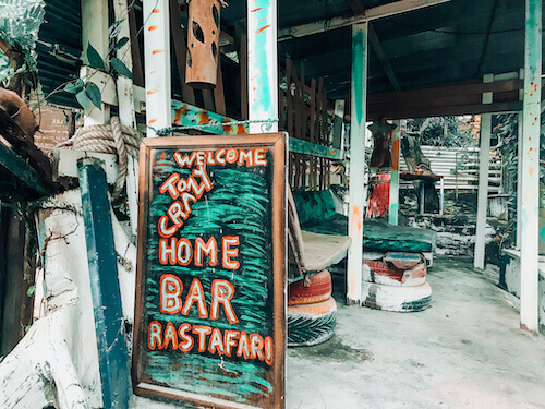 Home Bar Welcome Sign