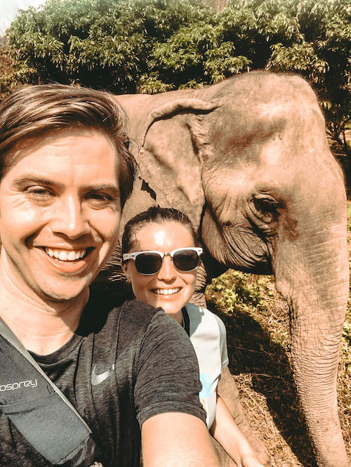 Kat & Chris with Sai Thong