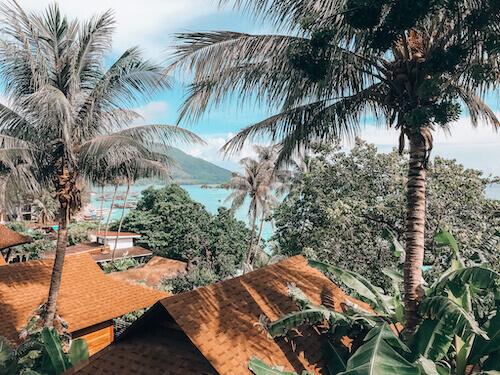 Ocean view from Grand View Bungalow, Ten Moons Lipe Resort, Koh Lipe, Thailand