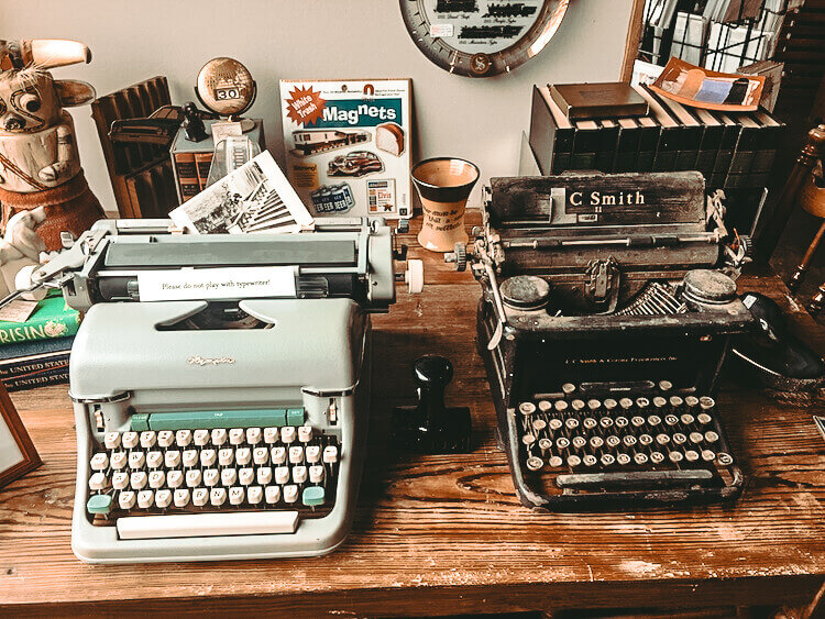 Old Typewriters found at an antique shop in Little Rock