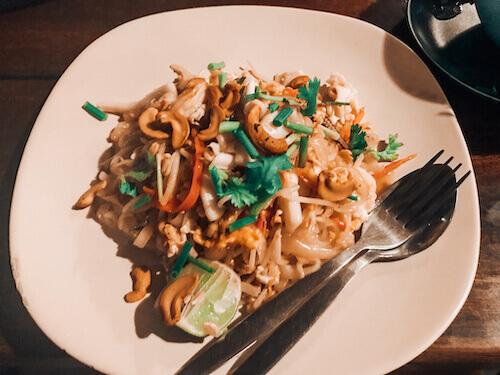 Pad Thai at Sunrise Restaurant, Koh Lipe