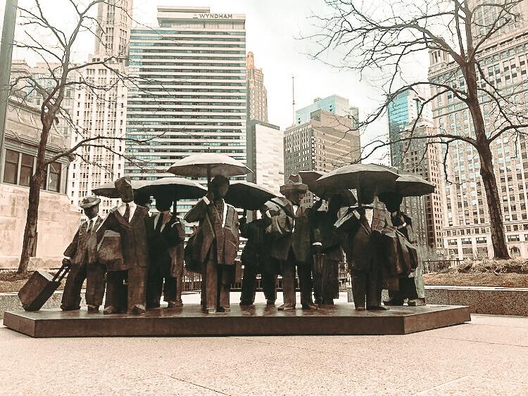 River North statues
