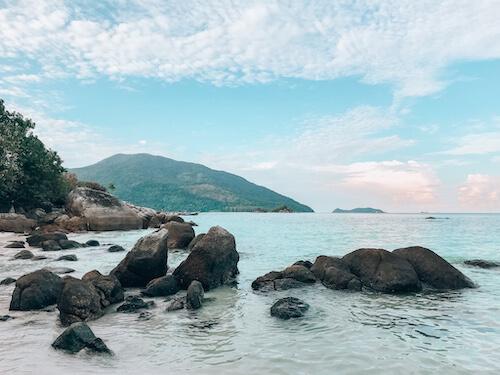 Sunny day overlooking sea on Koh Lipe, Thailand