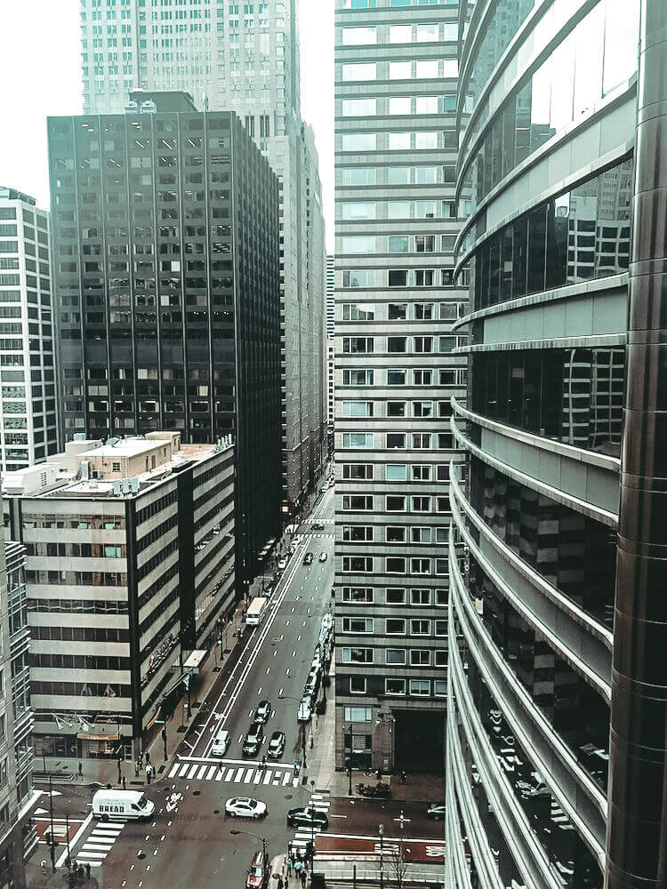 View from our hotel room at the Hyatt