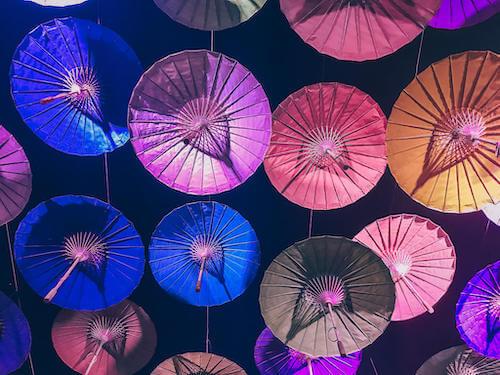 umbrellas overhead