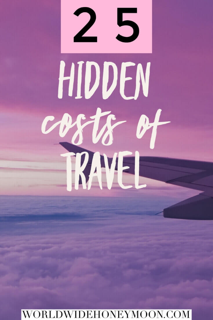 Hidden Costs of Travel Pin