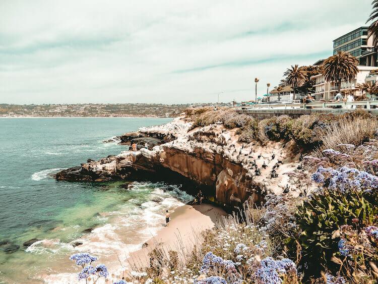 La Jolla Cove bluffs and beaches