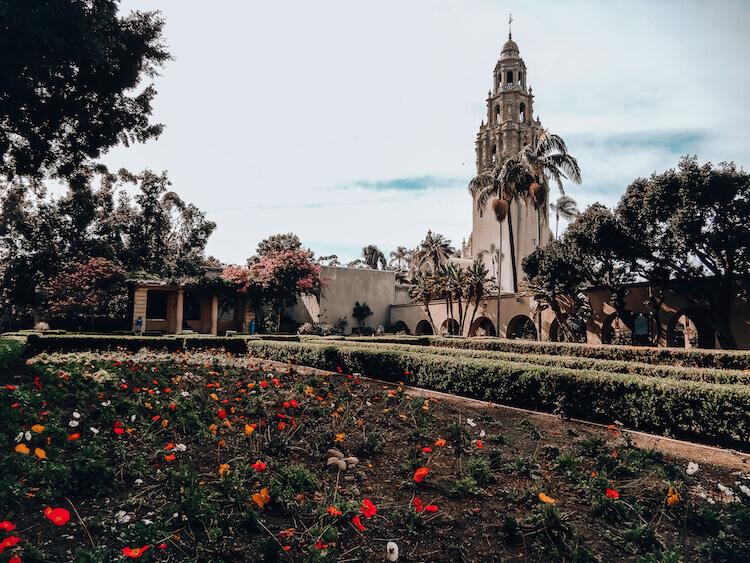Balboa Park Alcazar Gardens in San Diego