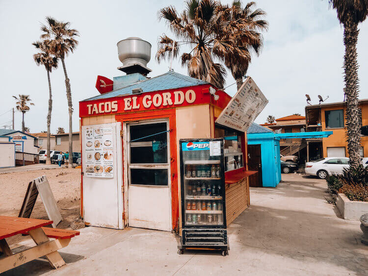 Tacos El Gordo small shack on Pacific Beach: One Day in San Diego