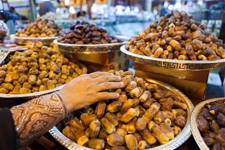 Dates at a market in Dubai   Places to Visit in Dubai for a Honeymoon