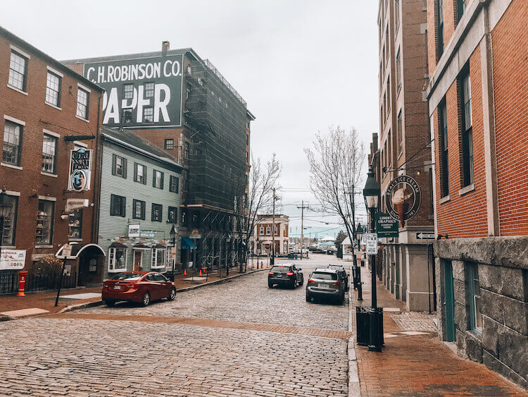 Downtown and Old Port area of Portland Maine