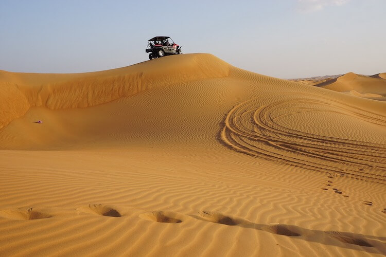 Dune buggy in the desert in Dubai   Places to Visit in Dubai for a Honeymoon