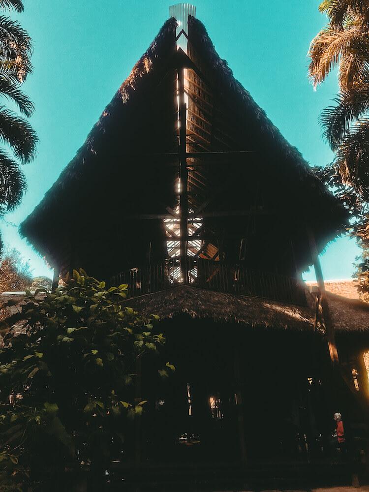 Entrance to Refugio Amazonas Lodge in Peru - Peru itinerary