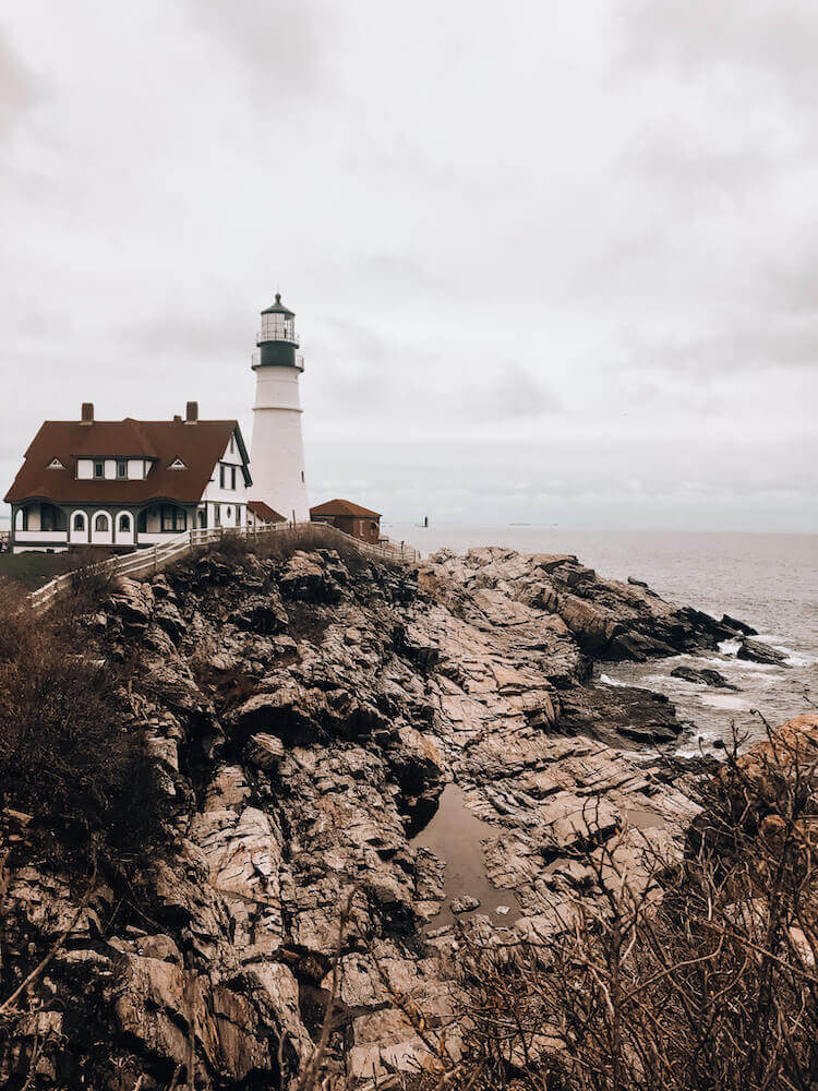 Portland Head Lighthouse and shores