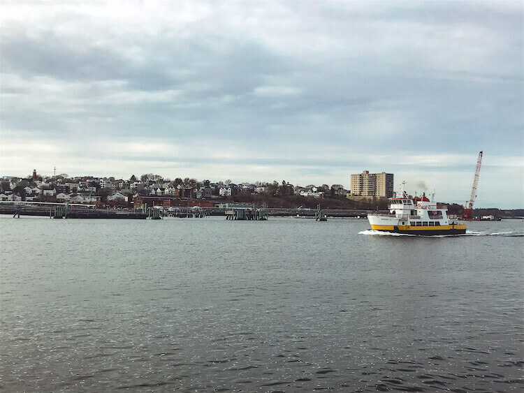 the view of Portland Maine from the water