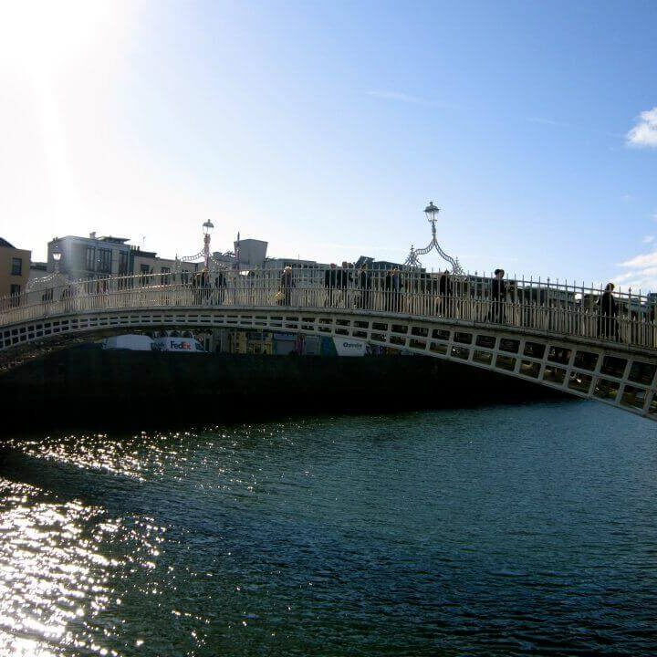 10 countries that are inexpensive. Bridge overlooking River Liffy, Dublin.