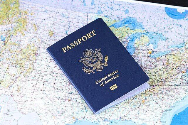 Honeymoon Planning Tips: passport overlay on map