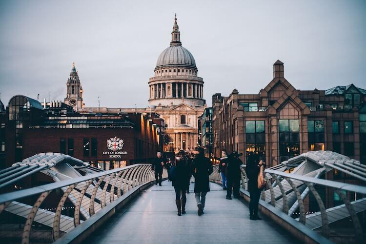 London from the Millennium Bridge