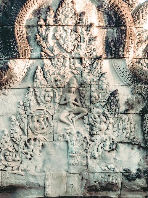 Angkor Wat carvings inside temple: 2 days in Siem Reap