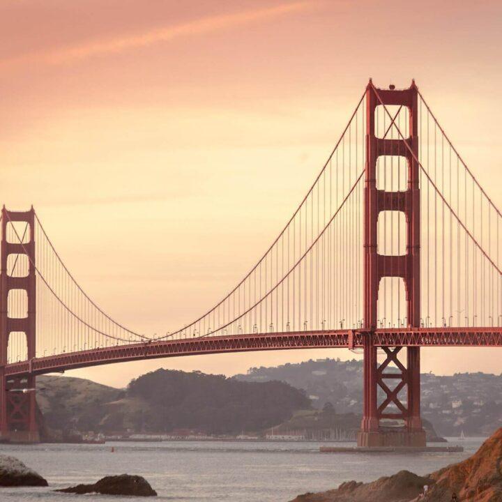 Golden Gate Bridge at sunset (1)
