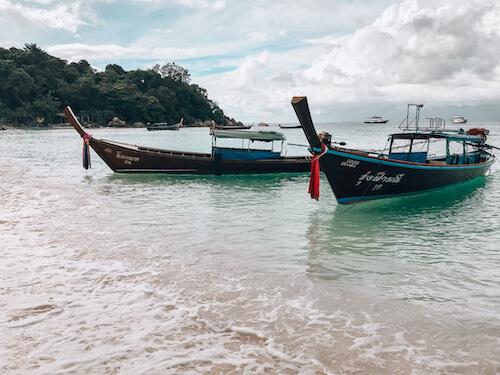 Pattaya Beach Boats During a Koh Lipe Guide