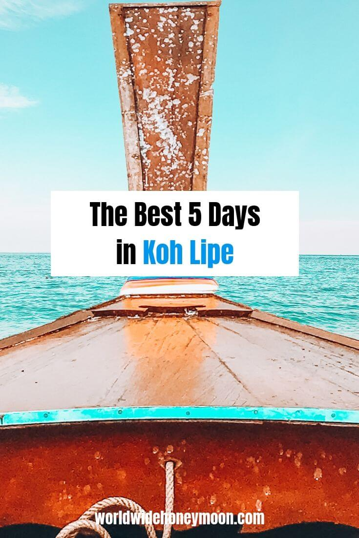 The Best 5 Days in Koh Lipe - Koh Lipe Itinerary - Koh Lipe Guide