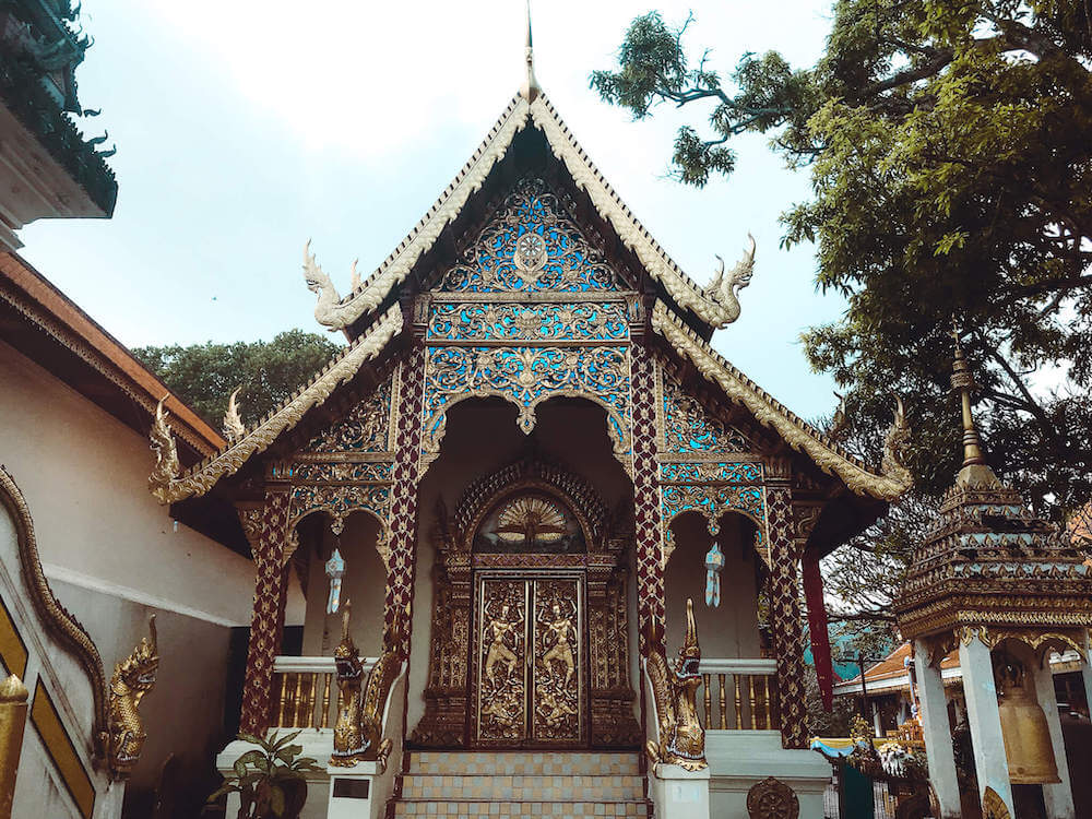 dazzling temple at Doi Suthep