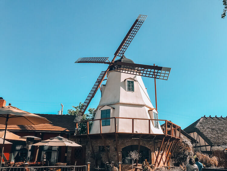windmill located in downtown Solvang, California